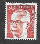 Stamps Germany -  1031 - Gustav Walter Heinemann