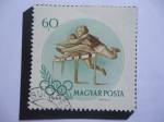 Stamps : Europe : Hungary :  Carrera con Obtáculos - Juegos Olímpicos de Verano 1956, Melbourne.
