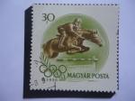 Sellos de Europa - Hungría -  Equitación-Ecuestre - Juegos Olímpicos de Verano 1956, Melbourne-Australia.