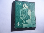Stamps Egypt -  Lámpara de Cristal- Mezquita. - Serie: Símbolos Nacionales.