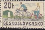 Stamps Czechoslovakia -  BICICLETAS