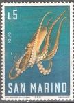 Sellos del Mundo : Europa : San_Marino : Pulpo común (Octopus vulgaris).