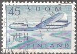 Sellos del Mundo : Europa : Finlandia : Avión Convair 440.
