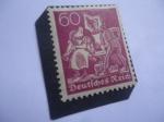 Sellos de Europa - Alemania -  Alemania,Reino - Números, Trabajadores,Espino falso-.
