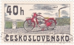 Stamps Czechoslovakia -  MOTOCICLETA