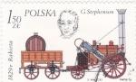 de Europa - Polonia -  HISTORIA DE LA LOCOMOCIÓN-George Stephenson's Rocket, 1829