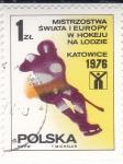 Sellos de Europa - Polonia -  CAMPEONATO HOCKEY SOBRE HIELO