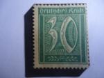 de Europa - Alemania -  Alemania, Reino - Numeral -Serie: Definitivos:Numerales, Workers Posthorn.