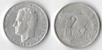 monedas de Europa - España -  2 ptas mapa españa