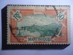 de Europa - Francia -  Francia, Colonias - Martinique - Martinica -Fortaleza Francia: Serie: 1908-1930