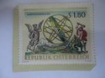 de Europa - Austria -  Esfera Celeste con el Díos Cronos y Herades - Serie:Biblioteca Nacional.