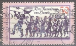 Sellos del Mundo : Europa : Alemania : Flautista de Hamelin. Piper y Niños.