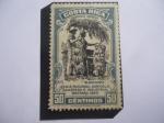 Sellos del Mundo : America : Costa_Rica : Banano - Feria Nacional Agricola , Ganadera e Industrial  - Cartago 1950.