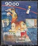 """Sellos del Mundo : America : México : Primer satélite del Sistema """"Morelos"""""""