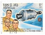 sellos de Asia - Laos -  espacio