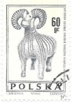 Sellos de Europa - Polonia -  cabra