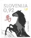 sellos de Europa - Eslovenia -  caballo