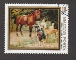 Stamps : Europe : Hungary :  Caballos