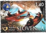 Sellos del Mundo : Europa : Eslovenia : piraguismo