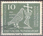 Sellos del Mundo : Europa : Alemania : Congreso Eucarístico en Munich en 1960.
