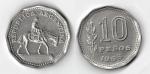 monedas de America - Argentina -  10 PESOS