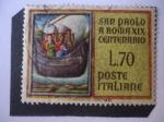 Stamps Europe - Italy -  San Pablo en Roma - 19° centenario de la llegada de San Pablo a Roma.