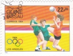 Stamps Africa - Guinea Bissau -  OLIMPIADA LOS ANGELES'84