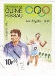 Stamps : Africa : Guinea_Bissau :  OLIMPIADA LOS ANGELES