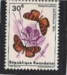 Stamps Africa - Rwanda -  Maariposas