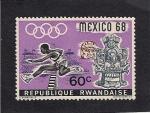 Sellos del Mundo : Africa : Rwanda : Olimpiadas de Mexico 68