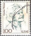 """Stamps : Europe : Germany :  """"Mujeres en la historia alemana"""" Grethe Weiser (1903-1970), actriz y comediante."""