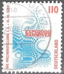 Stamps : Europe : Germany :  Exposición Emblema del Mundo EXPO 2000, Hannover.