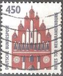 "Stamps : Europe : Germany :  "" Monumentos"" Nueva puerta,Neubrandenburg."