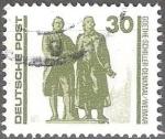 Stamps : Europe : Germany :  Monumento a Goethe Schiller en Weimar (estatua doble de bronce).