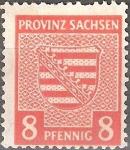 Stamps : Europe : Germany :  Escudo de armas.Ocupación aliada (Sajonia).