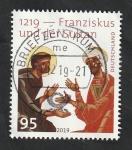 Sellos del Mundo : Europa : Alemania : 800 Anivº de la llegada de los Franciscanos a Marruecos, Francisco de Asís y el Sultán