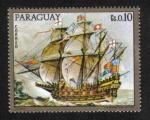 Sellos del Mundo : America : Paraguay : Pinturas de viejos buques de guerra,