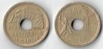 monedas de Europa - España -  25 ptas