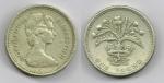 monedas de Europa - Reino Unido -  ONE POUND