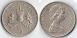 monedas de Europa - Reino Unido -  NEW PENCE 5