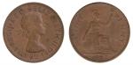 monedas de Europa - Reino Unido -  one penny
