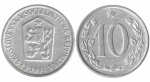 monedas de Europa - Checoslovaquia -  10 heller