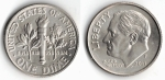 monedas del Mundo : America : Estados_Unidos :  1 dime
