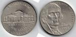 monedas del Mundo : America : Estados_Unidos :  Nickel Jefferson five cents