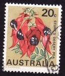 Stamps Australia -  Sturt's Desert Pea-Flor emblemática del sur de Australia