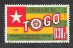 Stamps : Africa : Togo :  386 - Admisión de la Rep. de Tologase en al ONU