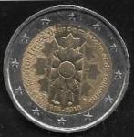monedas del Mundo : Europa : Francia :  2 euros 2018  Bleuet de France