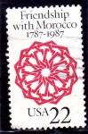 Sellos del Mundo : America : Estados_Unidos : Arabesco, Puerta del Palacio Dar Batha, Fez