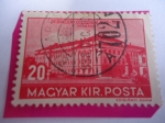Stamps : Europe : Hungary :  Debrecem Collegium 1538-1938 - Vista del Siglo XIX del Colegio de Debrecen - Universidad de Debrecen