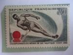 Stamps France -  Campeonatos Mundiales de Esquí Acuático 1963.